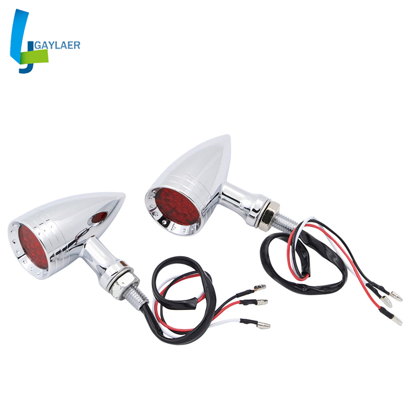 Universal M10 Aluminum Turn Signal LED Light Motocross Indicator Motorbikes Blinkers Flashers Flashing|  - title=