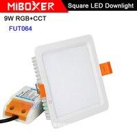 Miboxer 9W RGB+CCT LED Downlight FUT064 AC 100V 240V Square Brightness adjustable LED Ceiling Spotlight