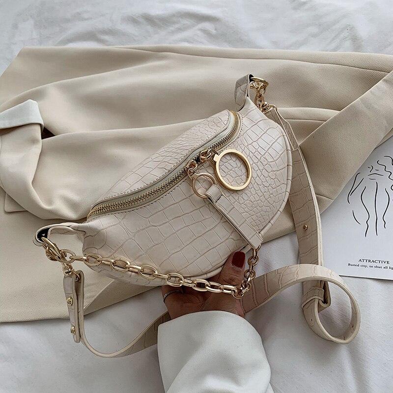 Женская сумка мессенджер с узором «Аллигатор», винтажная сумка на молнии, на одно плечо, на груди, из искусственной кожи, с цепочкой, повседневные дорожные клатчи|Сумки с ручками|   | АлиЭкспресс