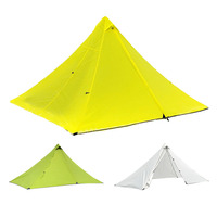 Camping Pyramid Tent with Mosquito Net Ripstop Portable Waterproof Lightweight for Outdoor Trekking Hiking Backpacking Travel Tents     -
