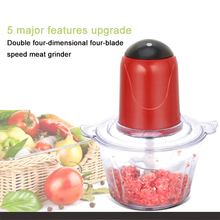 2.1LHome use Automatic Powerful Meat Grinder Multifunctional Electric Food Processor Electric Blender Chopper Meat Slicer Cutter multifunctional household agitator 600w electric stick blender hand blender egg whisk meat grinder food processor sky 5022 3