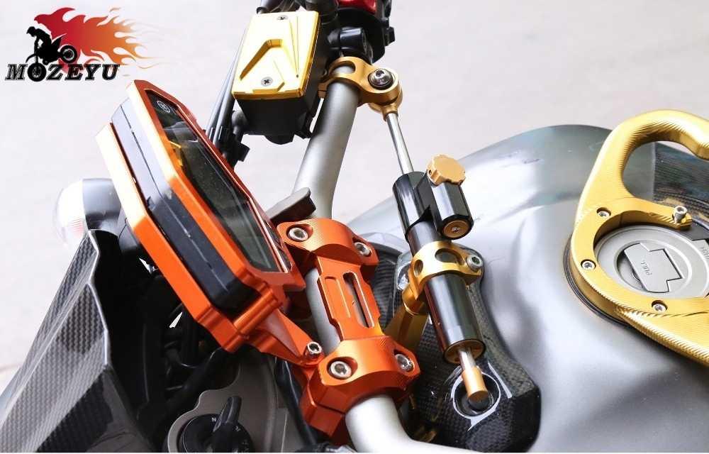 กับ S1000RR โลโก้รถจักรยานยนต์ CNC อลูมิเนียม Stabilizer โช้คอัพ Damper Stable พวงมาลัยสำหรับ BMW S1000 RR S1000 RR