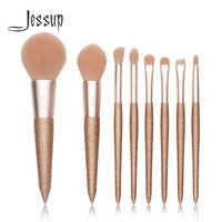 Jessup Nuovo 8 pcs Professionale fondazione pennello di Polvere Fard Matita Contorno Ombretto Make up pennelli Sintetici Cosmetici di trasporto libero