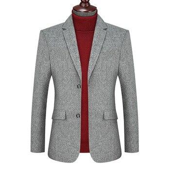 Fat Man Autumn Business Leisure Suit Coat Big Size Men's Wear Fat Plus Fat plus Loose Top Suit Dress
