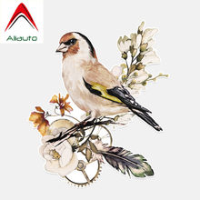 Aliauto Personalized Car Sticker Lovely Birds Sparrow Decor PVC Decal for Suzuki Swift Tiguan Infiniti Peugeot 308 VW,13cm*16cm(China)