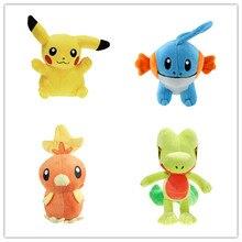 4 шт./компл. плюшевые игрушки куклы чучела животные игрушки, Пикачу Mudkip Torchic Treecko детские игрушки станет желанным подарком для друзей