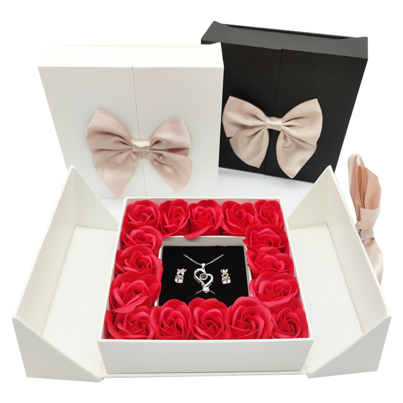 Gift Box Jewelry Box Packaging Box Rose Flower Party Wedding Girlfriend Birthday Mother's Day Valentines Day Christmas Gifts