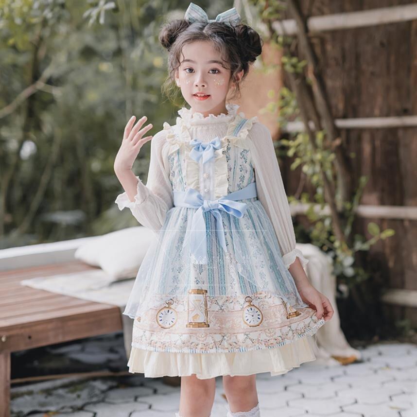 Sweet Lolita Girl Spanish Court Dress Anime Cosplay Costume Children Christmas Halloween Costume For Kids JSK Lolita Dress Y2782