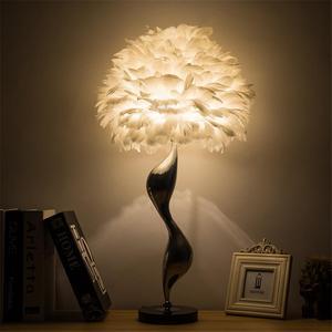 Image 4 - 北欧の高級白羽フロアランプ現代の Led 金属の花のフロア立ちランプリビングルームプリンセスルームのインテリアフロアライト