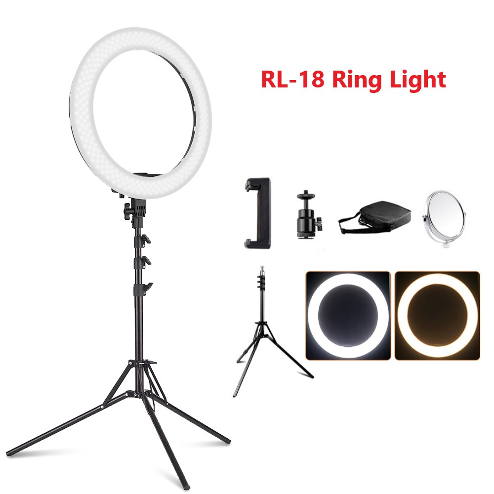 Ring Light LED Video Light Lamp with Tripod Stand 3
