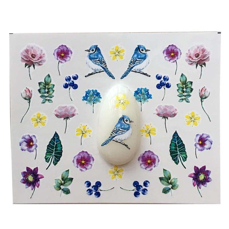 Diy manicure slider em relevo prego adesivo de flor dicas da arte do prego decorações decalques f17