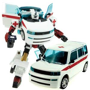 Image 4 - Ambulance Transformer Rescue Pioneer Alteration Simulation Car Robot Toy