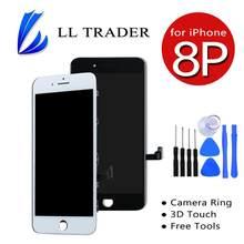 Dla iPhone 8 P 8 Plus wyświetlacz LCD wymiana ekranu dotykowego Digitizer zgromadzenie 3D dotykowy darmowa wysyłka + darmowe narzędzia czarny