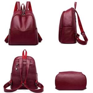 Image 5 - Bagpack נשי תרמיל ילדה המוצ ילה feminina מזדמן נשים עור תרמיל נשי כתף תיק Sac Dos Femme נסיעות חזרה חבילה