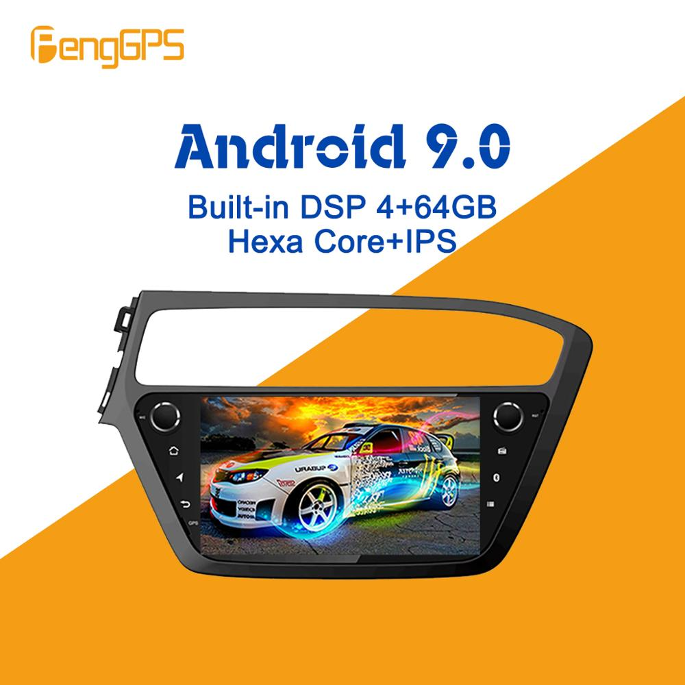 Android 9.0 PX6 DSP For Hyundai I20 2018 2019 Car Multimedia Stereo Player No DVD Radio GPS Navigation Head Unit Screen Audio