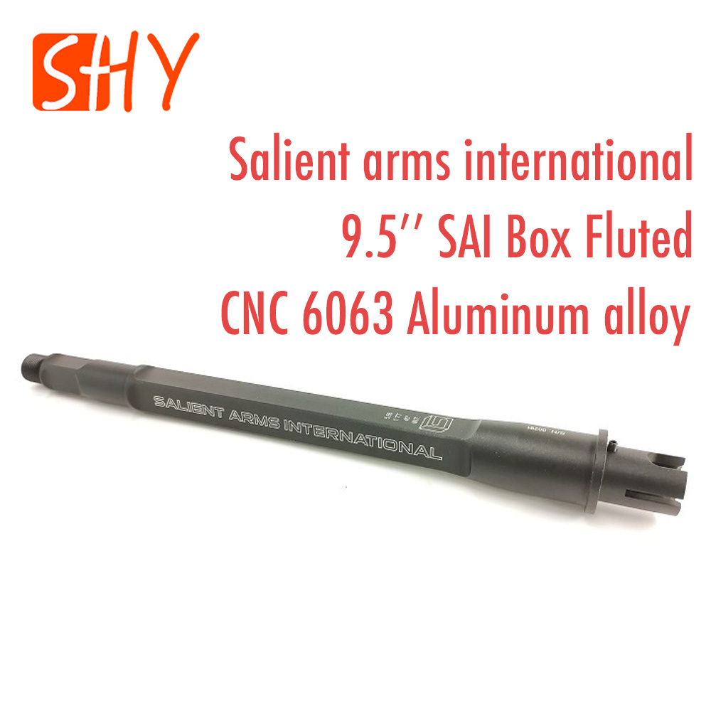 Water Gel Ball Blaster AEG Airsoft Toy Accessories 9.5'' Salient Arms International SAI Box Fluted Barrel Metal Outer Tube