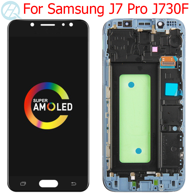Original J7 Pro Display For Samsung Galaxy J7 Pro 2017 LCD With Frame AMOLED 5.5
