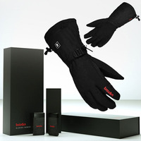 S/M/L/XL BOODUN Electric Heated Heating Gloves 3 Modes Touch Screen For Outdoor Skiing Gloves+3000mAh Power Bank waterproof