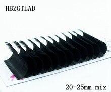 Hbzgtlad c/d/dd 20-25mm mix falso vison cílios individuais maquiagem cilios para profissionais extensão de cílios de vison macio