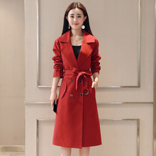 Women Clothes 2019 Autumn Winter Fashion Trend Plus Size Solid Warm Coat Female Windproof European Double Breasted Wide-waisted