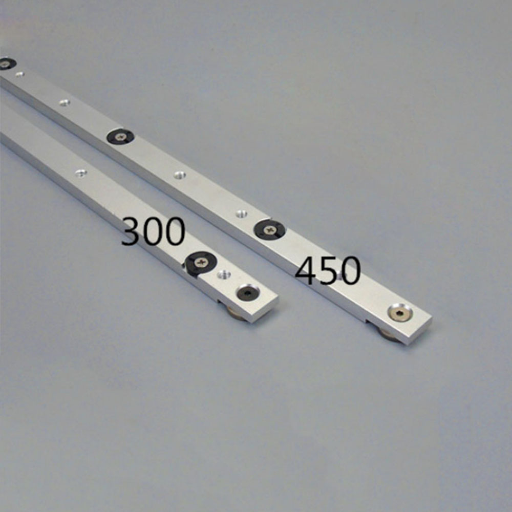 450mm 300MM Aluminum Alloy Rail Mitra Sliding Bar Table Saw Bar Tool for Woodworking Drop Ship in Woodworking Machinery Parts from Tools