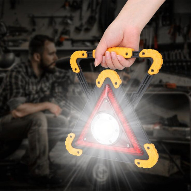 Портативный фонарь для обслуживания автомобиля, перезаряжаемый через USB Предупреждение наружного использования, кемпинга