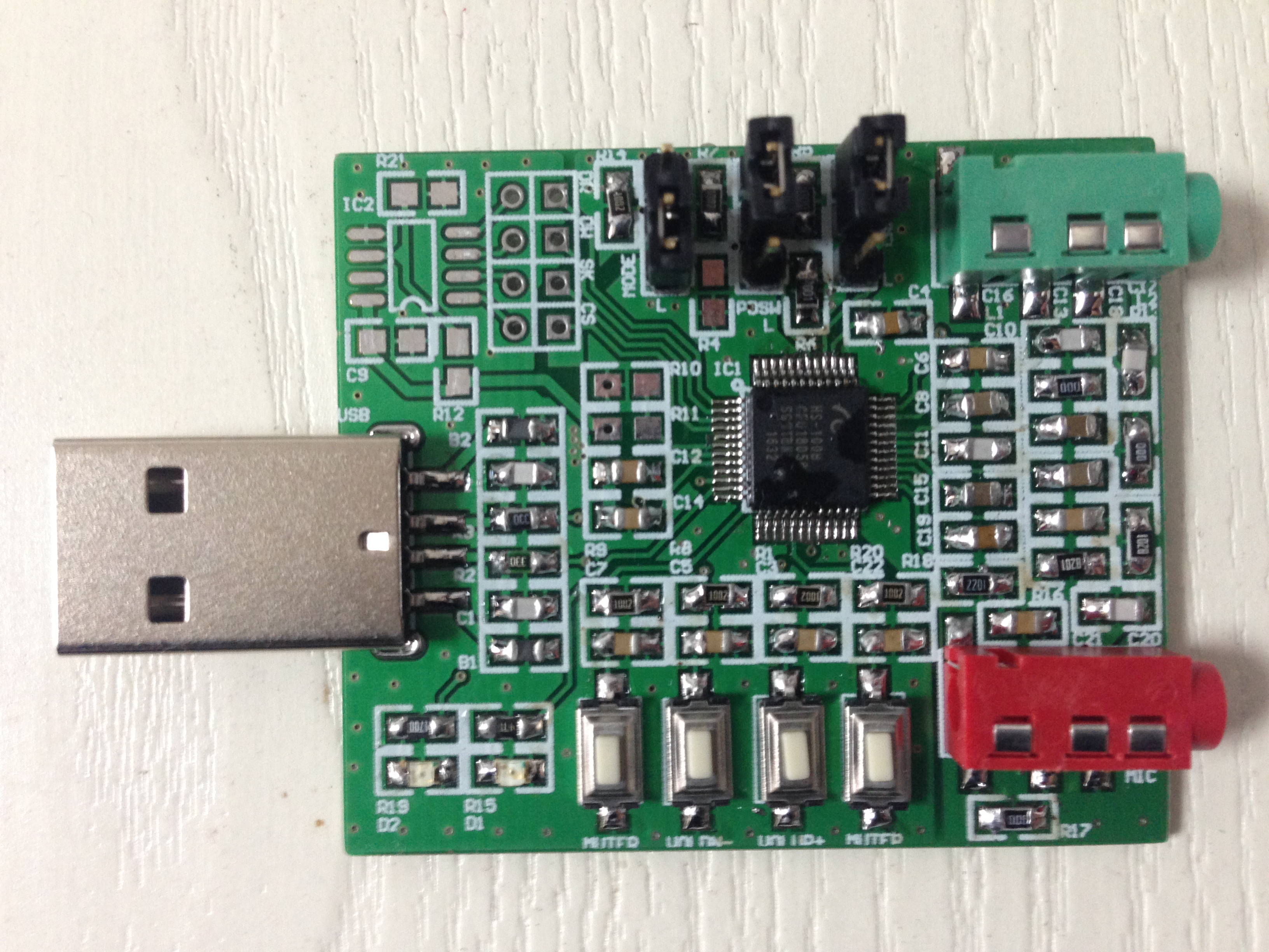 <font><b>HS100B</b></font> USB Sound Card Module Computer Sound Card DIY Module Free Driver Plug and Play image