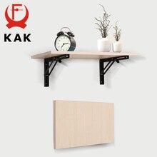 KAK 2PCS Dreieck Halterung Wand Halterung Klapp Winkel Halterung Einstellbare Wand Tisch Regal Halterung Möbel Hardware