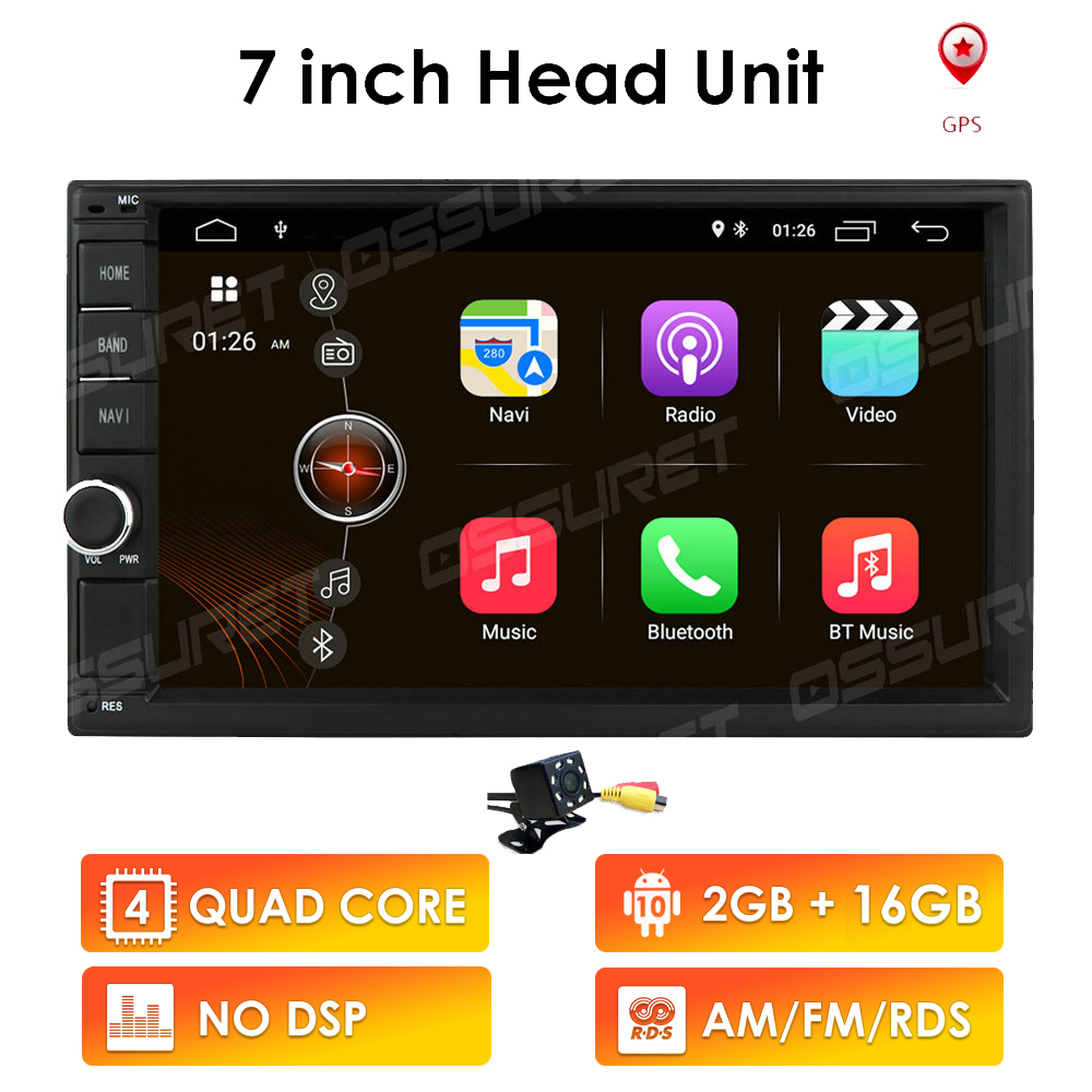 Nrpfell 7 Inch Android 10.1 Car Radio Multimedia Video Player Wifi BT Gps Auto Stereo Double 2 Din Car Stereo USB Fm Radio