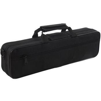 ¡Caliente! Bolsa de flauta acolchada de nailon funda de transporte correa de hombro 39x7x11cm negro