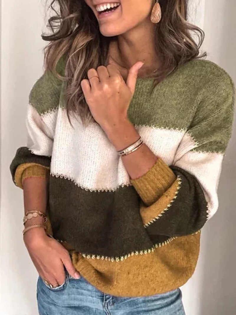 בתוספת גודל 5XL נשים סוודר סתיו חורף חם סרוג סוודרים סוודר 2019 נשים O צוואר ארוך שרוול טלאים מקרית Jumper