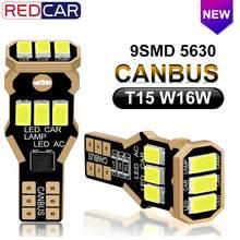 2Pcs W16W T15 HA CONDOTTO Le Lampadine 9SMD 5630 Chips Canbus NESSUN Errore di OBC Trasporto 912 921 Super Luminoso Ad Alta Potenza auto Backup Prenotazione Luci 12V