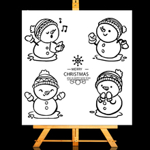 ZhuoAng Singing snowman Clear Stamps/Card Making Holiday decorations For  scrapbooking Transparent stamps 13*13cm