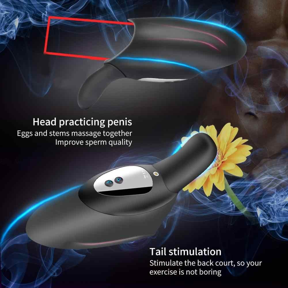 Multi-Velocità Pene Allenatore Ritardo Pompino Masturbatore Maschile Vibratore Orale Culmine Del Sesso Glande Stimolano Massaggiatore Giocattoli Erotici per Gli Uomini