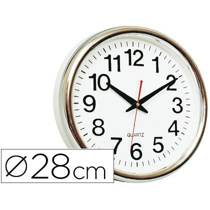 WATCH Q-CONNECT WALL PLASTIC ROUND OFFICE 30 CM MARCO WHITE