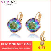 Xuping Romantic  Hoop Earrings  Crystals from Swarovski Gold-Color Exquisite Jewelry Party Gift Women Girls M76/M77/M78-20371