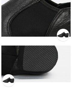 Image 5 - פעוט מקצועי ג אז ריקוד נעלי ילדים להחליק על סניקרס Geniune עור נעל עבור בנות שיזוף שחור נעלי תינוק