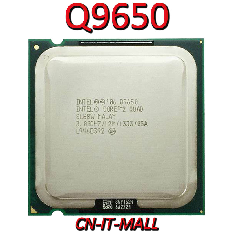 Intel Core Q9650 CPU 3.0G 4 Core 4 Thread LGA775 Processor