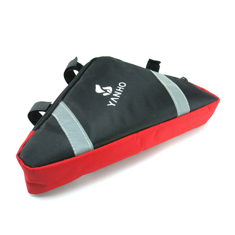 <font><b>Yanho</b></font> Bicycle Triangle <font><b>Bag</b></font> Support Car Beam Package Saddle <font><b>Bag</b></font> Mountain <font><b>Bike</b></font> Tool Ride Luggage image