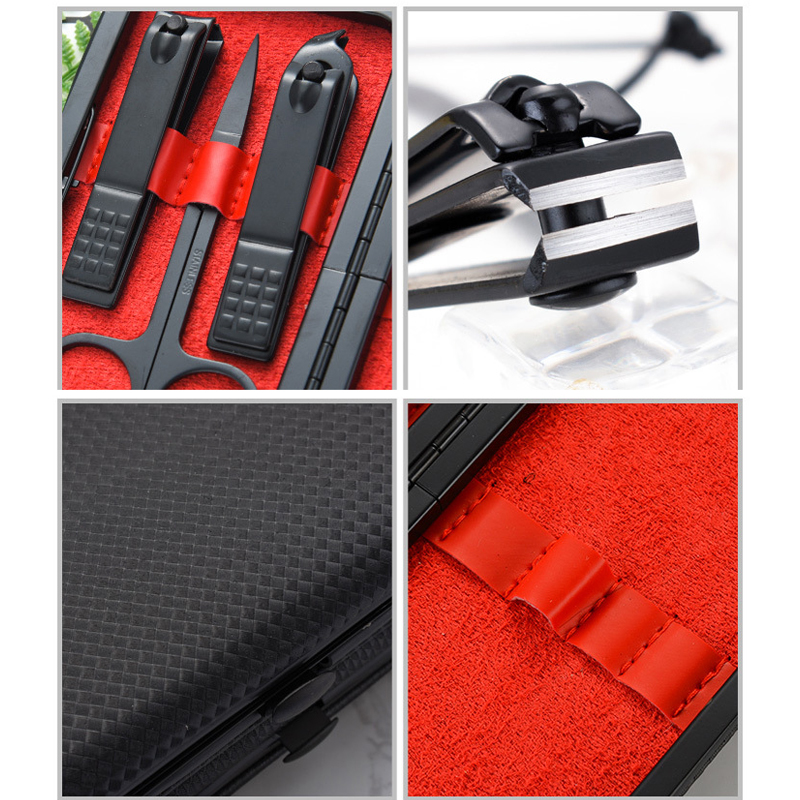 7pcs set Manicure Nail Clippers Pedicure Set Portable Travel Stainless Steel Clipper Trimmer Ear Pick Nail Tool Grooming Kit in Clippers Trimmers from Beauty Health