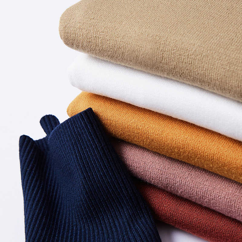 Kuegou 2020 Musim Semi Hitam Polos Turtleneck Sweater Pria Kasual Pullover Jumper untuk Pria Merek Rajutan Gaya Korea Pakaian 89002