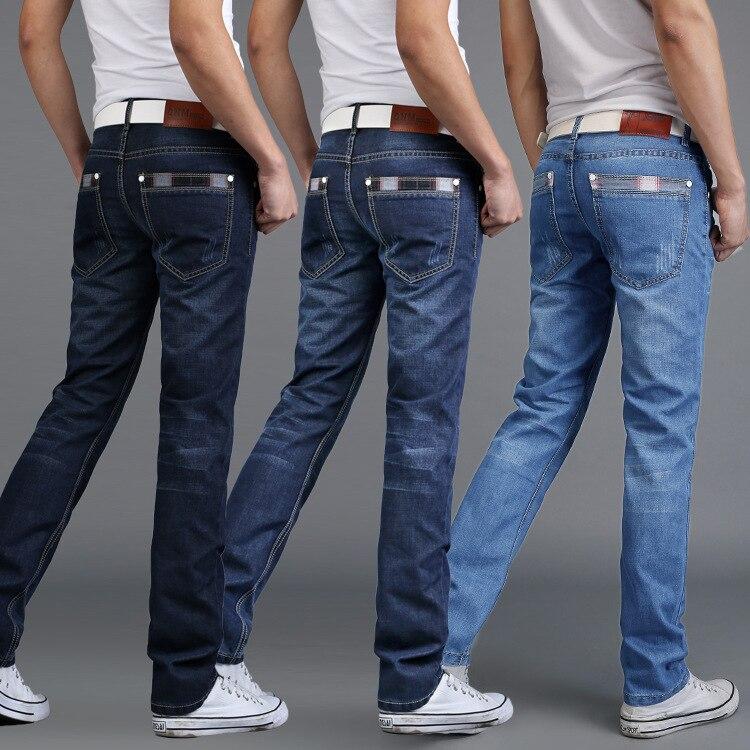 MEN'S Jeans Men'S Wear Straight-Cut Business MEN'S Jeans 2017 Autumn New Style Pants Fashion Four Seasons Wearable