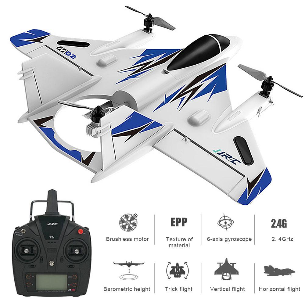6CH RC Airplane Brushless Motor Vertical Take-off Remote Control Glider Fixed Wing Vertical Takeoff & Landing Plane Aircraft RTF image