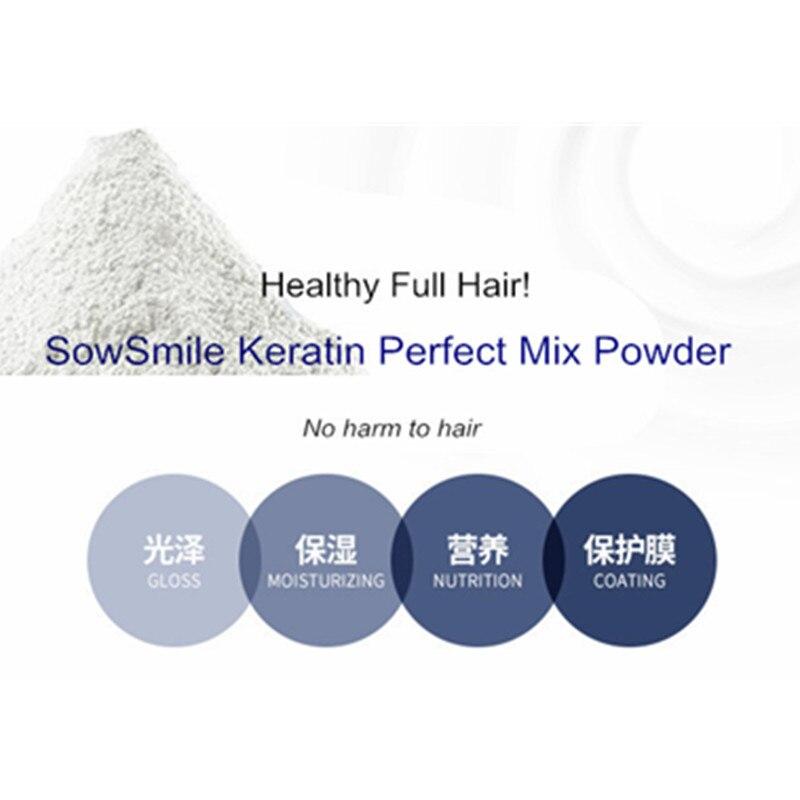 SowSmile 100% Keratin Collagen Silk Natural Moisturizing Repair Hair Scalp Care Vitamins Treatment Perfect Mix Serum Powder 5