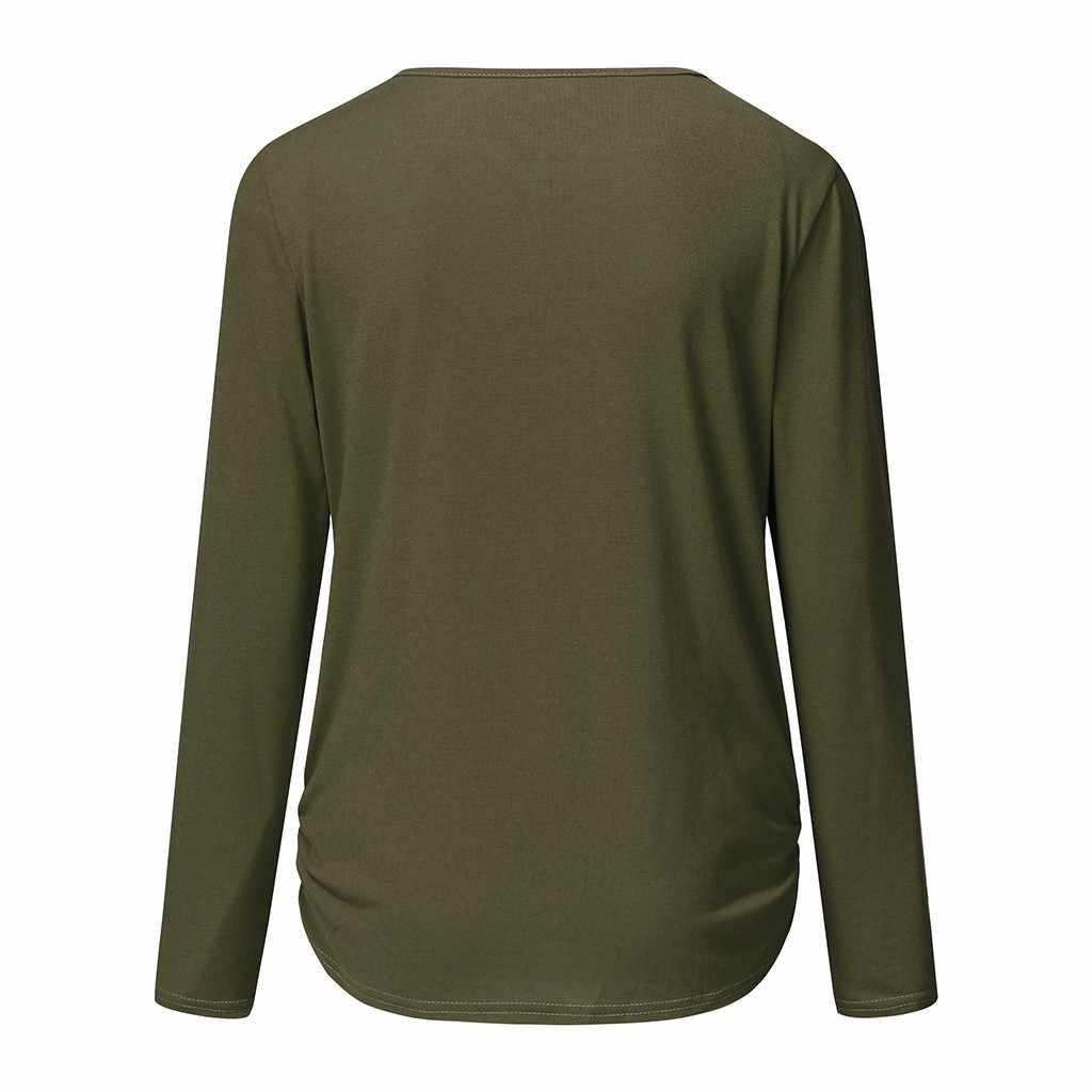 Vêtements de maternité 2020 femmes maternité manches longues confortable blouse d'allaitement T-Shirts pour l'allaitement vetement femme