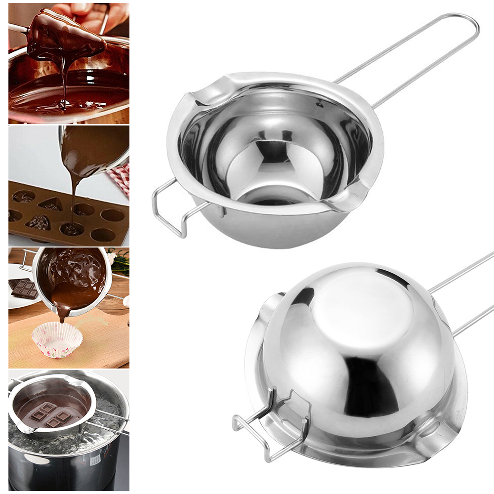 Stainless Steel Water Bath Pot Of Chocolate Melting Water Heating Melting Pot Bowl Baking Heating Container Kitchen Accessories