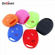 6 Colors 3 Buttons Round Silicone Car Key Case for Ford Series Focus  Mondeo Festiva Fusion Suit Fiesta KA New Arrival