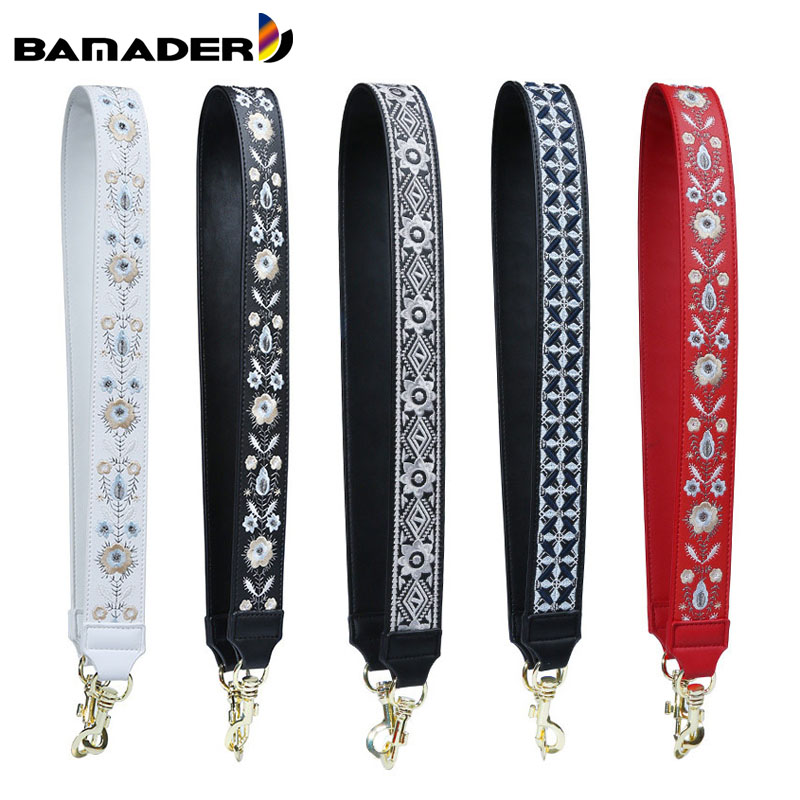 Genuine Leather Embroidered Bag Strap Women Bag Accessories Handbag Strap Lady Beautiful Bag Belt High Quality Straps For Bags