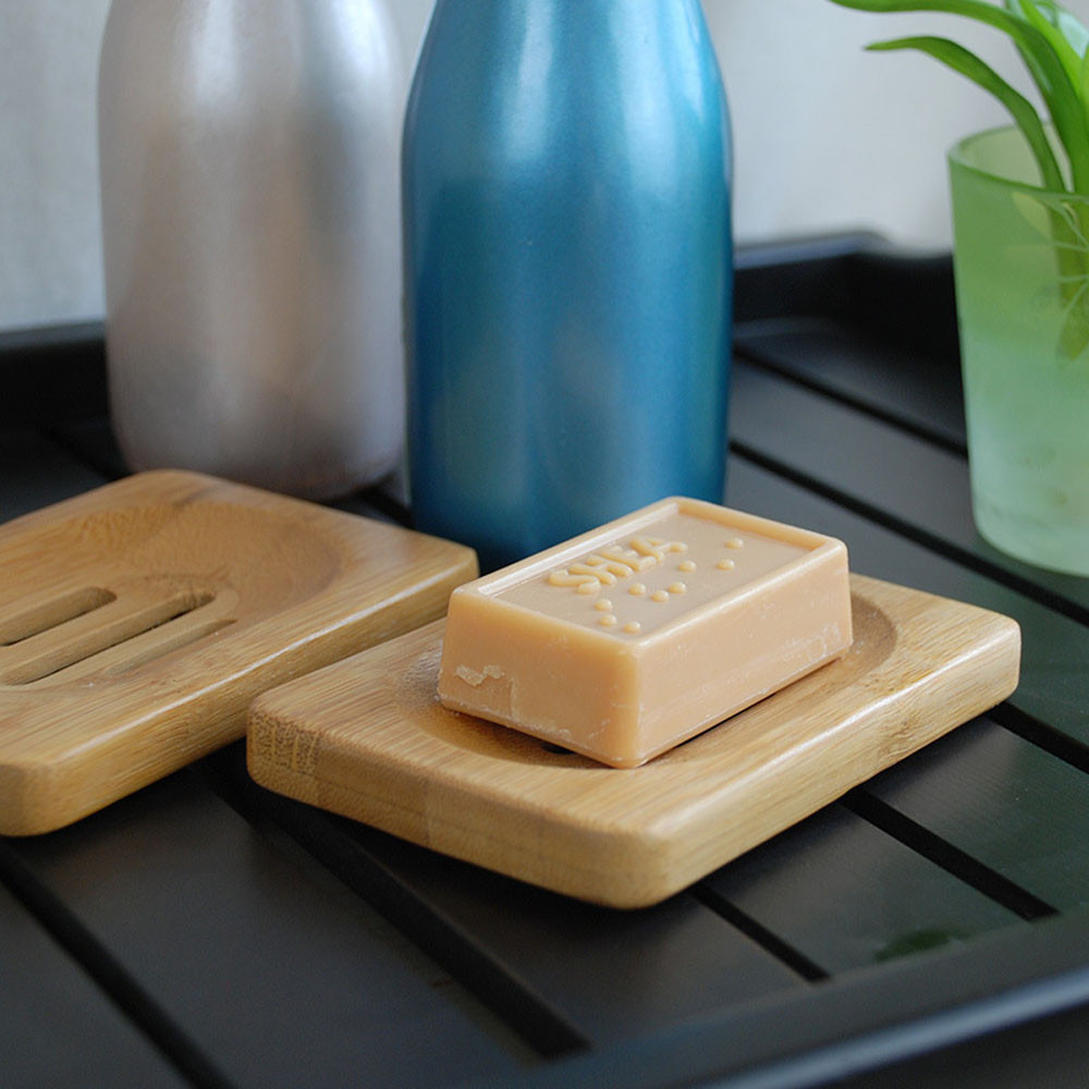 Natural Wooden Bamboo Soap Dish Soap Tray Holder Storage Soap Rack Plate Box Container For Bath Shower Plate Bathroom
