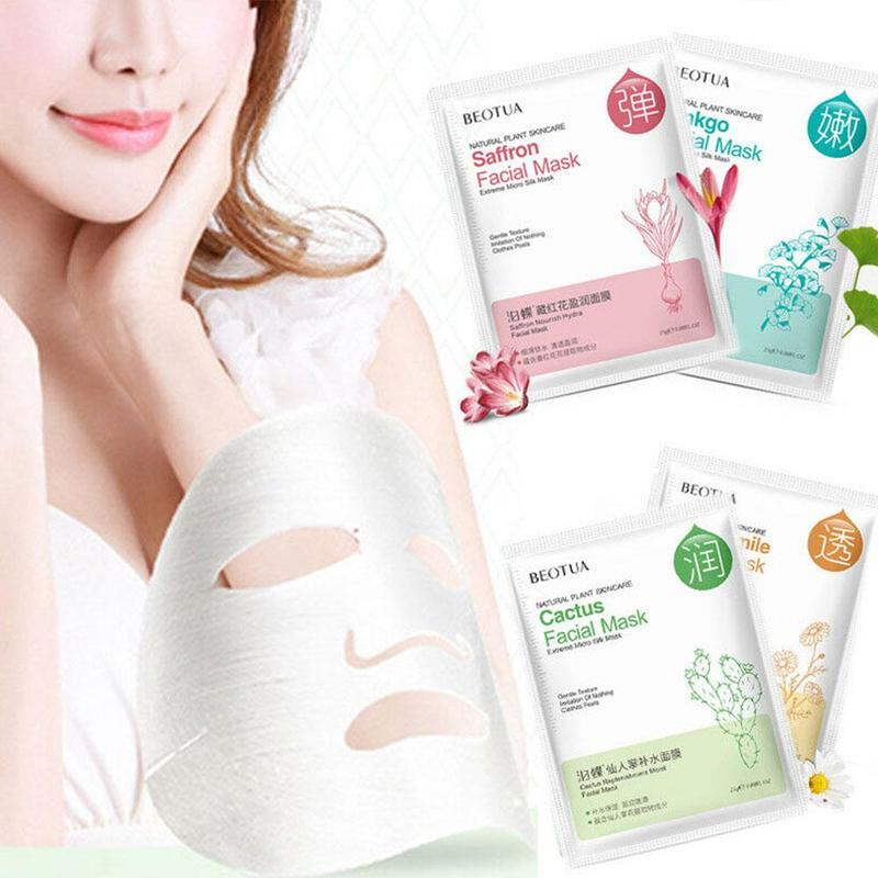 25ml Brighten Moisturizing Facial Sheet Mask Nourish Hyaluronic Acid Facial Mask Face Skin Care Beauty Sheet Mask